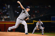 PHOENIX, AZ - JUNE 08:  Jake Odorizzi #23 of the Tampa Bay Rays delivers a pitch against the Arizona Diamondbacks during the first inning of the MLB game at Chase Field on June 8, 2016 in Phoenix, Arizona. The Tampa Bay Rays won 8-6.  (Photo by Jennifer Stewart/Getty Images)