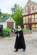 Costume character at Den Gamle By, The Old Town, folk museum at Aarhus, Denmark