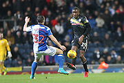 Donervan Daniels wins the ball during the EFL Sky Bet League 1 match between Blackburn Rovers and Rochdale at Ewood Park, Blackburn, England on 26 December 2017. Photo by Daniel Youngs.