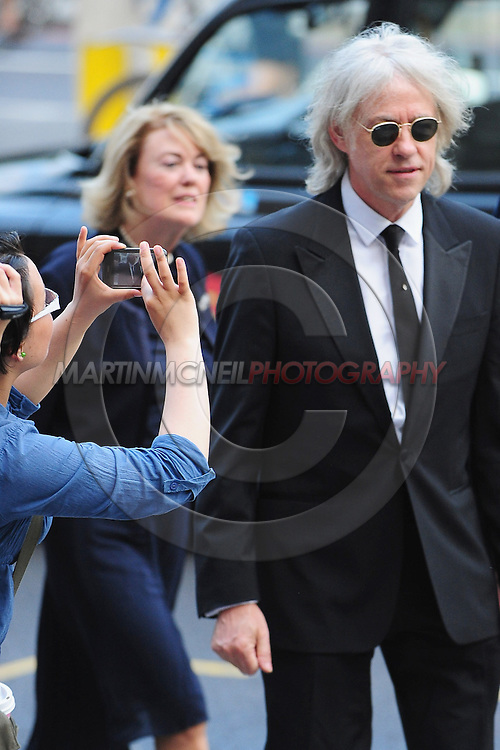 LONDON, ENGLAND - JULY 25:  Sir Bob Geldof arrives for the Sports For Peace Fundraising Ballq at The V&A on July 25, 2012 in London, England.  (Photo by Martin McNeil/Getty Images) *** Local Caption *** Sir Bob Geldof