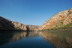 Still water, early morning in Cyclone Creek in Tablot Bay on the Kimberley coast.