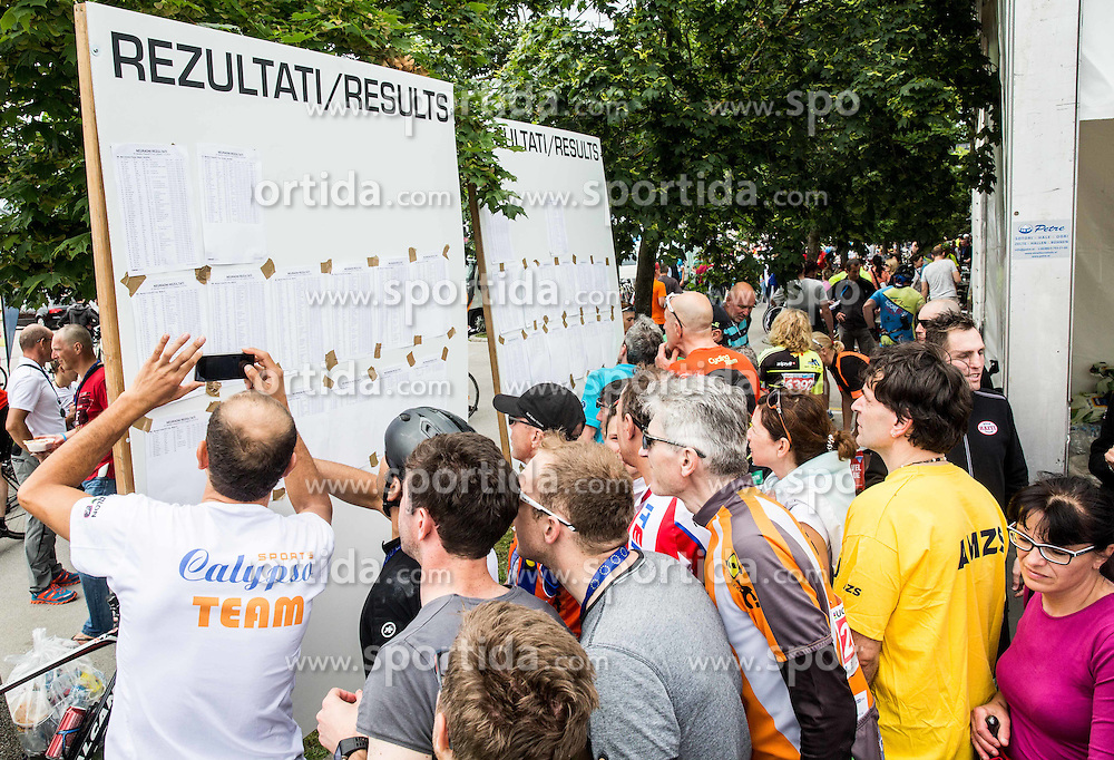 Results at 35th Marathon Franja BTC City 2016, on June 11, 2016 in BTC, Ljubljana, Slovenia. Photo by Vid Ponikvar / Sportida