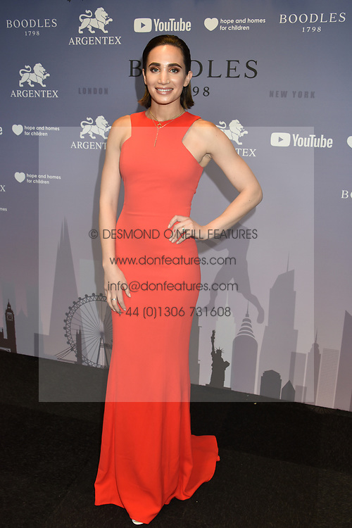 Laura Wright at the Boodles Boxing Ball, in association with Argentex and YouTube in Support of Hope and Homes for Children at Old Billingsgate London, United Kingdom - 7 Jun 2019 Photo Dominic O'Neil