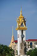 Phnom Penh, Cambodia. Cambodia-Vietnam Friendship Monument.
