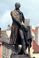 Statue of Joseph Nicephore Niepce, inventor of photogaphy. Chalon-sur-Saone, Burgundy France.