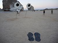 "High Desert Test Sites 2013, Bettina Hubby ""Googly Eyes for Giant Rock""."