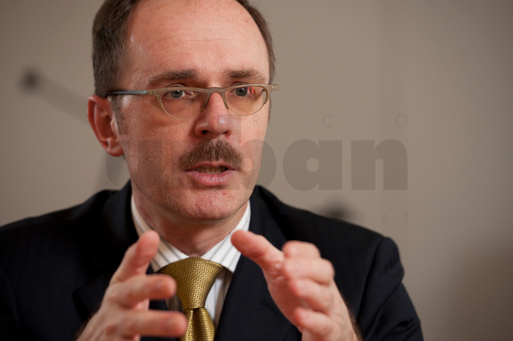 08 MAR 2012, BERLIN/GERMANY:<br /> Dr. Thomas Steffen, Staatssekretaer im Bundesministerium der Finanzen, waehrend einem Interview, in seinem Buero, Bundesministerium der Finanzen<br /> IMAGE: 20120308-02-004