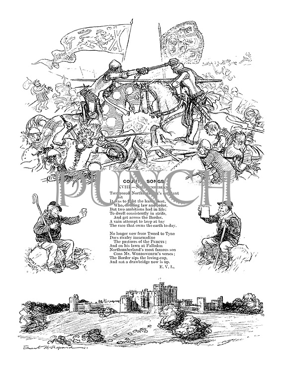 County Songs. XVIII.—Northumberland. (Illustrated poem)