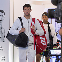 Grigor Dimitrov of Bulgaria on day twelve of the 2017 Australian Open at Melbourne Park on January 27, 2017 in Melbourne, Australia.<br /> (Ben Solomon/Tennis Australia)