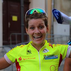 26th Thueringen Rundfahrt der Frauen Altenburg happy Emma Johansson after her stage win