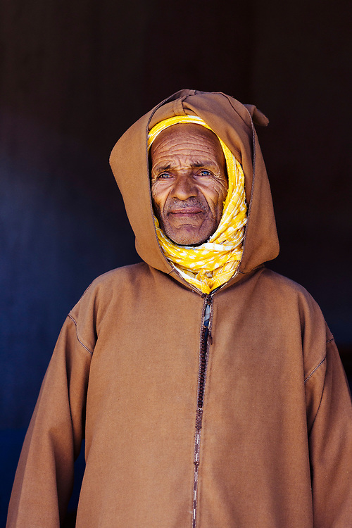 ASSAISS, MOROCCO - October 28th 2015 - Portrait of a local to Assaiss at the Assaiss market, Taliouine, Sirwa Mountain Range, Souss Massa Draa region of Southern Morocco