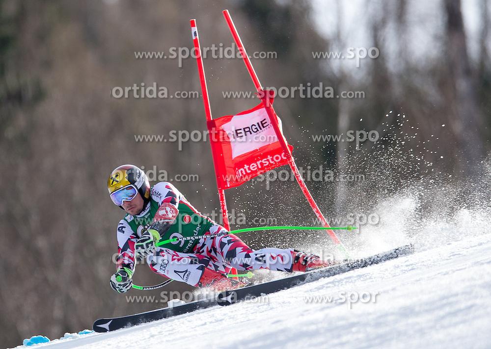 27.02.2016, Hannes Trinkl Rennstrecke, Hinterstoder, AUT, FIS Weltcup Ski Alpin, Hinterstoder, Super G, Herren, im Bild Marcel Hirscher (AUT, 3. Platz) // 3rd placed Marcel Hirscher of Austria competes during his run of men's Super G of Hinterstoder FIS Ski Alpine World Cup at the Hannes Trinkl Rennstrecke in Hinterstoder, Austria on 2016/02/27. EXPA Pictures © 2016, PhotoCredit: EXPA/ Johann Groder