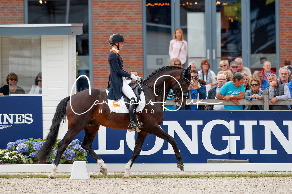 Brouwer Kirsten, NED, Ferdeaux<br /> Longines FEI/WBFSH World Breeding Dressage Championships for Young Horses - Ermelo 2017<br /> &copy; Hippo Foto - Dirk Caremans<br /> 05/08/2017
