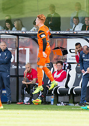 Dundee United's Simon Murray celebrates after scoring their goal. half time : Dunfermline 0 v 1  United, Scottish Championship game played 10/9/2016 at East End Park.
