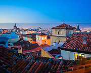 Sunrise over the rooftops of Madrid