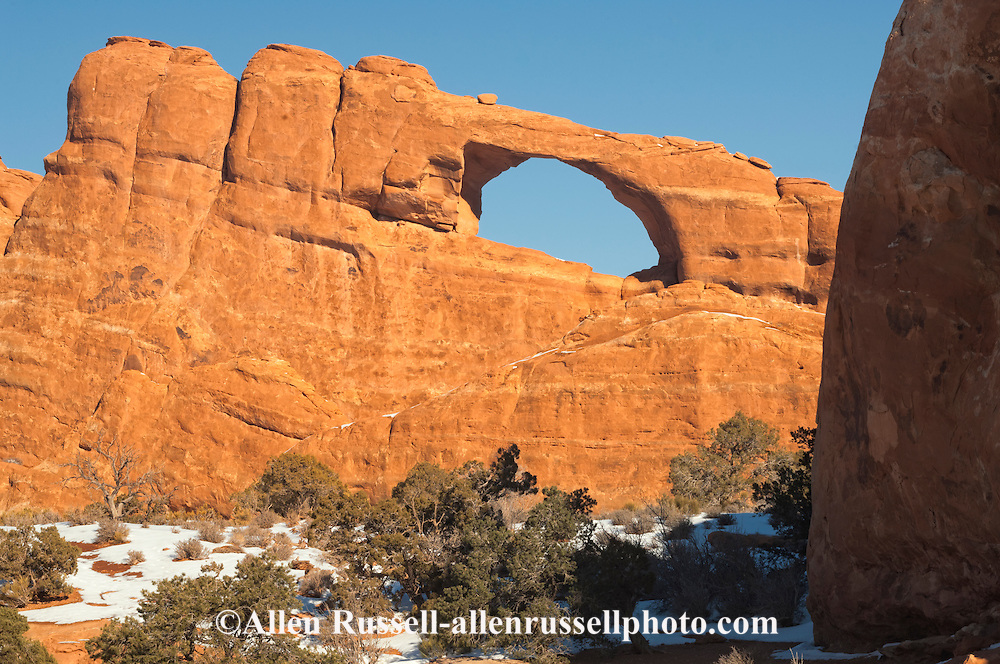 Skyline Arch, Arches National Park, Utah, winter.