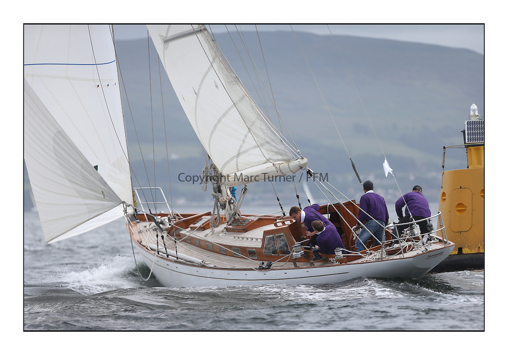 Day one of the Fife Regatta, Round Cumbraes Race.<br /> Sonata, Patrick  Caiger-Smith, GBR, Bermudan Sloop, Wm Fife 3rd, 1950<br /> <br /> * The William Fife designed Yachts return to the birthplace of these historic yachts, the Scotland&rsquo;s pre-eminent yacht designer and builder for the 4th Fife Regatta on the Clyde 28th June&ndash;5th July 2013<br /> <br /> More information is available on the website: www.fiferegatta.com