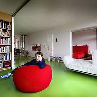 Nederland, Amsterdam , 9 juli 2012..Het interieur van architect  Lada Hrsak..Foto:Jean-Pierre Jans