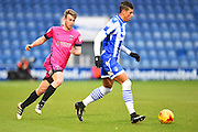 Hartlepool player Rhys Oates try to close down an opposition player in the first half during the EFL Sky Bet League 2 match between Colchester United and Hartlepool United at the Weston Homes Community Stadium, Colchester, England on 25 February 2017. Photo by Ian  Muir.*** during the EFL Sky Bet League 2 match between Colchester United and Hartlepool United at the Weston Homes Community Stadium, Colchester, England on 25 February 2017. Photo by Ian  Muir.