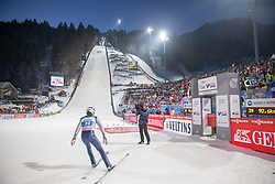 06.01.2015, Paul Ausserleitner Schanze, Bischofshofen, AUT, FIS Ski Sprung Weltcup, 63. Vierschanzentournee, Finale, im Bild Anssi Koivuranta (FIN) // Anssi Koivuranta of Finland reacts after his first Final Jump of 63rd Four Hills Tournament of FIS Ski Jumping World Cup at the Paul Ausserleitner Schanze, Bischofshofen, Austria on 2015/01/06. EXPA Pictures © 2015, PhotoCredit: EXPA/ Johann Groder