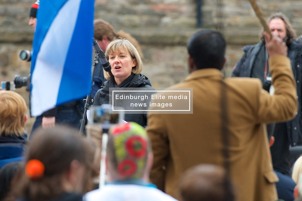 Stop the Cuts, Student Demonstration, outside The Scottish Parliament, Hollyrood, Edinburgh, Speakers: Mary Senior UCU (University & College Union) 23rd March 2016<br /> (c) Brian Anderson | Edinburgh Elite media