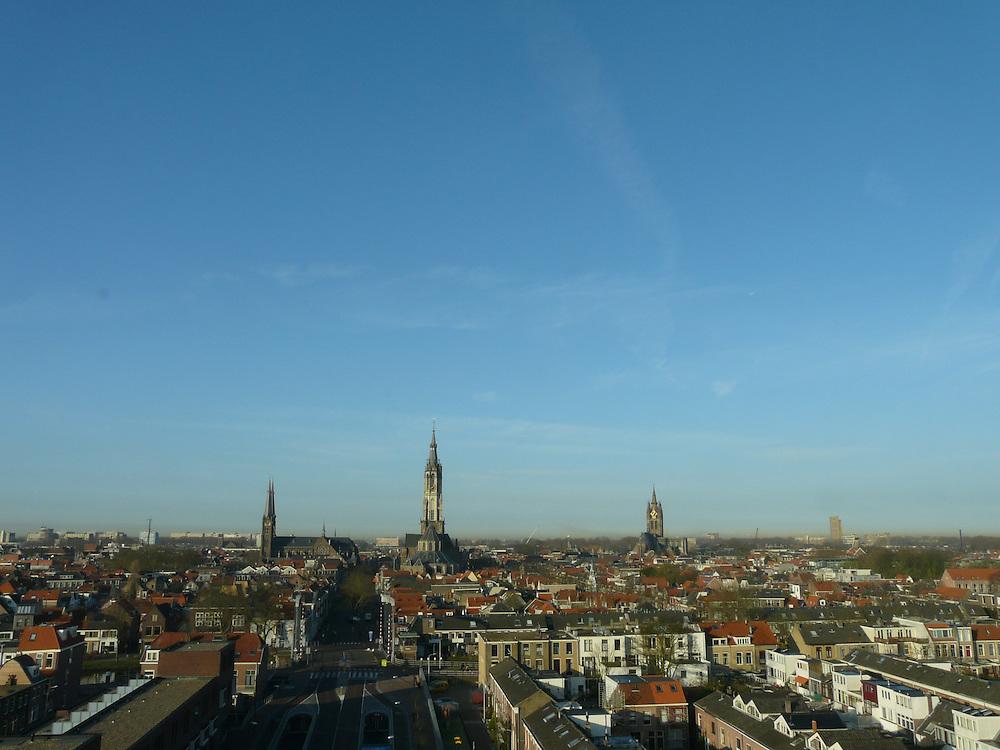 EN&gt; Panoramic view of the city of Delft | <br /> SP&gt; Vista panor&aacute;mica de la ciudad de Delft