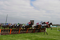 Grand National Meeting - Ladies' Day<br /> e.g. of caption:<br /> National Hunt Horse Racing - 2017 Randox Grand National Festival - Friday, Day Two [Ladies' Day]<br /> <br /> iHarry Bannister on French runner Bigmartre in the lead in the 13.40 Alder Hey Children's Charity Handicap Hurdle (Grade 3) (Class 1)<br /> 2m 4f, Good at Aintree Racecourse.<br /> <br /> COLORSPORT/WINSTON BYNORTH
