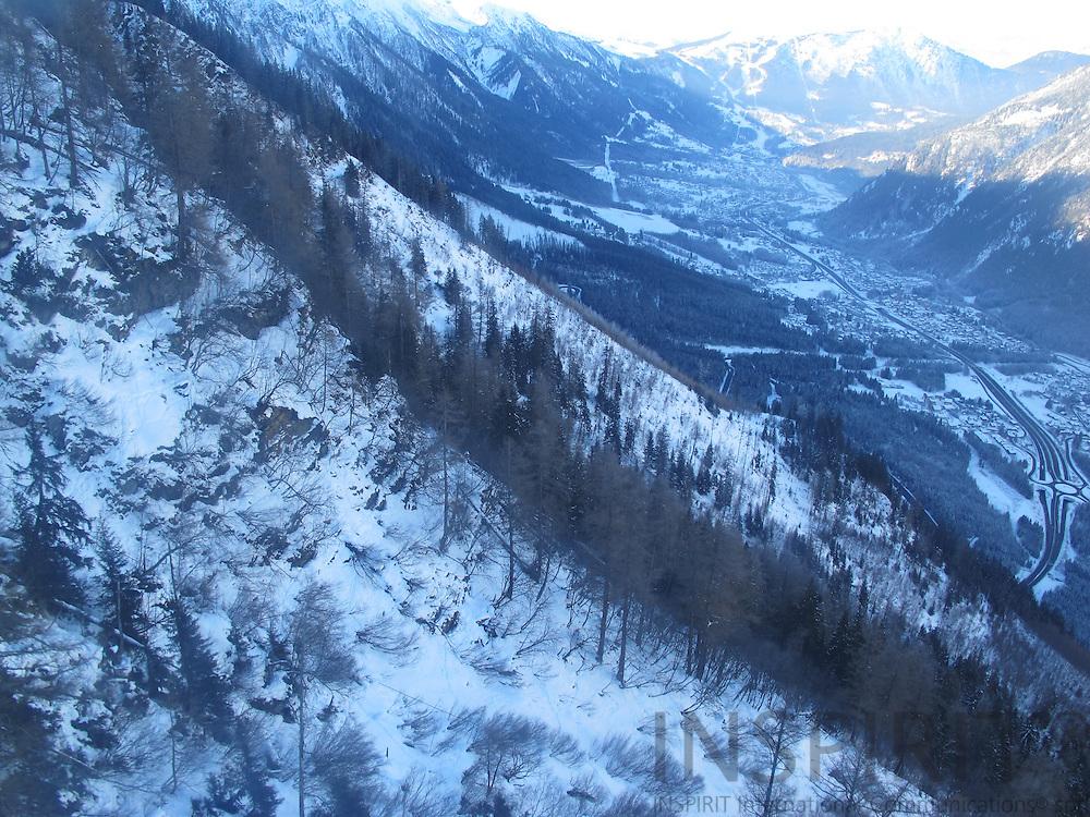 View Mount Blanc to the village of Chamonix. Photo: Tuuli Sauren / Inspirit International Communications