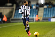 Millwall defender Shaun Cummings (2) during the EFL Sky Bet League 1 match between Millwall and Peterborough United at The Den, London, England on 28 February 2017. Photo by Sebastian Frej.