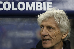 March 23, 2018 - Saint-Denis, Ile-de-France, France - Jose Pekerman; Coach Colombie Team, during the friendly football match between France and Colombia at the Stade de France, in Saint-Denis, on the outskirts of Paris, on March 23, 2018. (Credit Image: © Elyxandro Cegarra/NurPhoto via ZUMA Press)