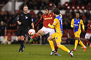 Nottingham Forest striker Nelson Oliveira during the Sky Bet Championship match between Nottingham Forest and Preston North End at the City Ground, Nottingham, England on 8 March 2016. Photo by Jon Hobley.