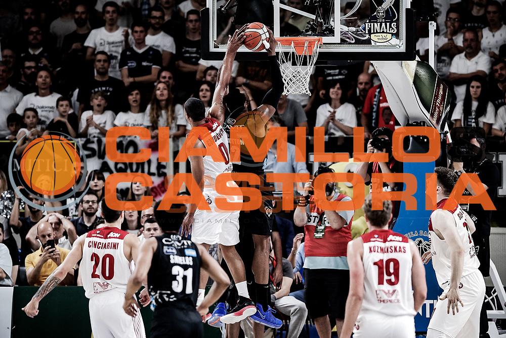 Sutton Dominique, DOLOMITI ENERGIA TRENTINO vs EA7 EMPORIO ARMANI OLIMPIA MILANO, gara 4 Finale Play off Lega Basket Serie A 2017/2018, PalaTrento Trento 11 giugno 2018 - FOTO: Bertani/Ciamillo