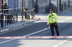 © Licensed to London News Pictures. 06/07/2019. London, UK. The scene on the Harrow road after a man was shot on Friday night. Photo credit: Peter Macdiarmid/LNP