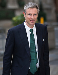 © Licensed to London News Pictures. 24/01/2016. London, UK. London Mayoral candidate Zac Goldsmith arrives at BBC Broadcasting House before appearing on the Andrew Marr Show.  Photo credit: Peter Macdiarmid/LNP