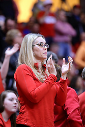 11 February 2017:  Melissa Muller during a College MVC (Missouri Valley conference) mens basketball game between the Bradley Braves and Illinois State Redbirds in  Redbird Arena, Normal IL