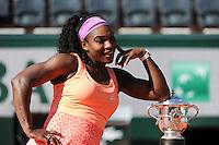 Serena WILLIAMS  - 06.06.2015 - Jour 14 - Finale Femmes - Roland Garros 2015<br /> Photo : Nolwenn Le Gouic / Icon Sport