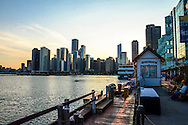 Chicago Skyline at Sunset from Navy Pier