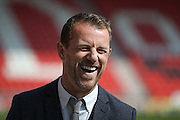 A relaxed ex Burton Albion Manager Gary Rowett during the Sky Bet League 1 match between Doncaster Rovers and Burton Albion at the Keepmoat Stadium, Doncaster, England on 8 May 2016. Photo by Simon Davies.