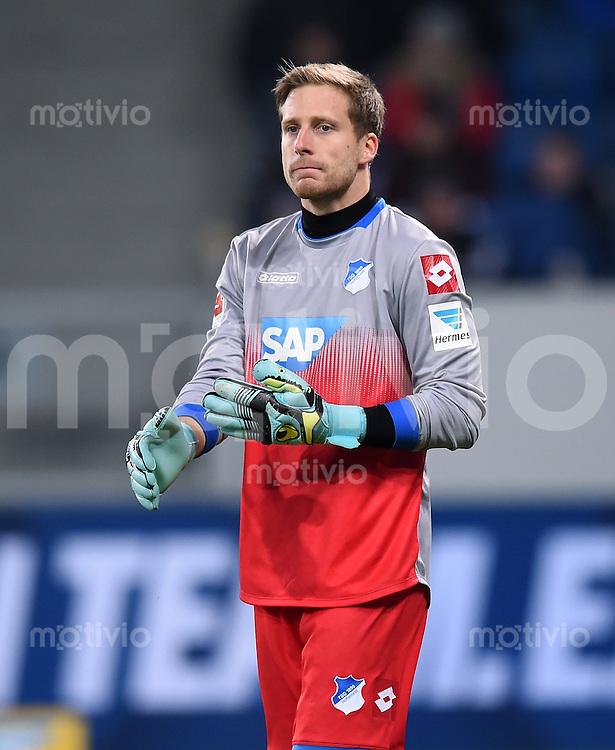Fussball  1. Bundesliga  Saison 2014/2015  19. Spieltag in Sinzheim TSG 1899 Hoffenheim - SV Werder Bremen     04.02.2015 Torwart Oliver Baumann (TSG 1899 Hoffenheim)
