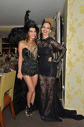 Left to right, JULIET ANGUS and MARISSA HERMER at the Bumpkin Halloween Dinner hosted by Marissa Hermer held at Bumpkin, 119 Sydney Street, London on 23rd October 2014.