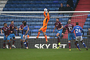 John Ruddy Oldham Goalkeeper catches during the EFL Sky Bet League 1 match between Oldham Athletic and Scunthorpe United at Boundary Park, Oldham, England on 28 October 2017. Photo by George Franks.