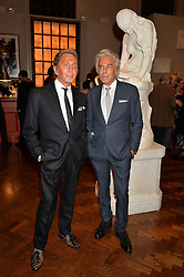 Left to right, VALENTINO GARAVANI and GIANCARLO GIAMMETTI at a party to celebrate the launch of the Maison Assouline Flagship Store at 196a Piccadilly, London on 28th October 2014.  During the evening Valentino signed copies of his new book - At The Emperor's Table.