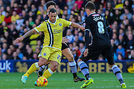 Scott McDonald of Millwall on the ball during the Sky Bet Championship match at Vicarage Road, Watford<br /> Picture by David Horn/Focus Images Ltd +44 7545 970036<br /> 01/11/2014