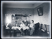 dinner in the living room France circa 1930s