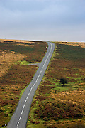 Country road in Dartmoor, Devon,  United Kingdom