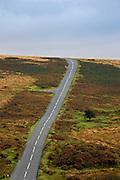 Country road in Dartmoor, Devon,  United Kingdom