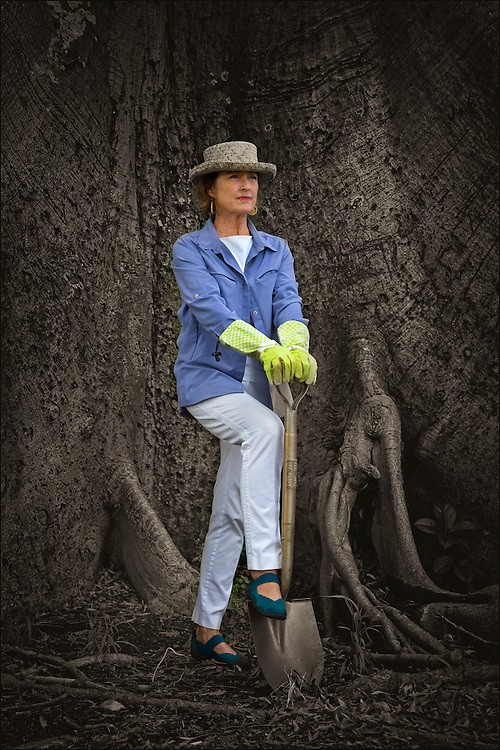 Alexandra Avery, President Emeritus of the Outdoor Circle poses for portrait in front of a Kapok tree.  ©PF Bentley