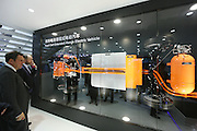 BEIJING, CHINA - APRIL 25: (CHINA OUT) <br /> <br /> The Baic Motor fuel cell exlended-range electric vehicle structure is on display at the Beijing International Automotive Exhibition on April 25, 2016 in Beijing, China. <br /> ©Exclusivepix Media