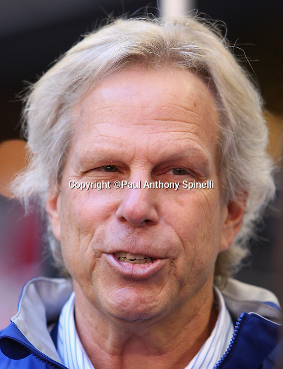 GLENDALE, AZ - JANUARY 29: Chairman and Executive Vice President Steve Tisch of the New York Giants speaks to the media at the Giants Super Bowl XLII Media Day at University of Phoenix Stadium on January 29, 2008 in Glendale, Arizona.©Paul Anthony Spinelli *** Local Caption *** Steve Tisch