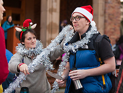 Celebration of Light, exploring religious and cultural aspects of the holiday followed by singing and lighting the trees around Red Square at PLU, Wednesday, Nov. 30, 2016. (Photo: John Froschauer/PLU)